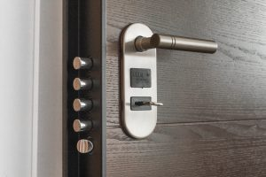 A secure door, one way to protect your home while on vacation